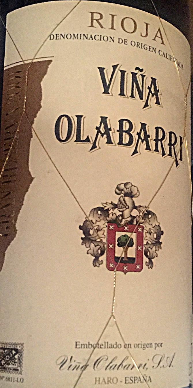 2001 Vina Olabarri Reserva Rioja