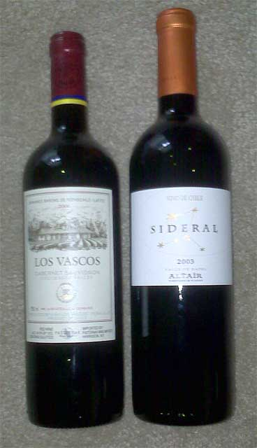 Two Chilean Reds, head to head.